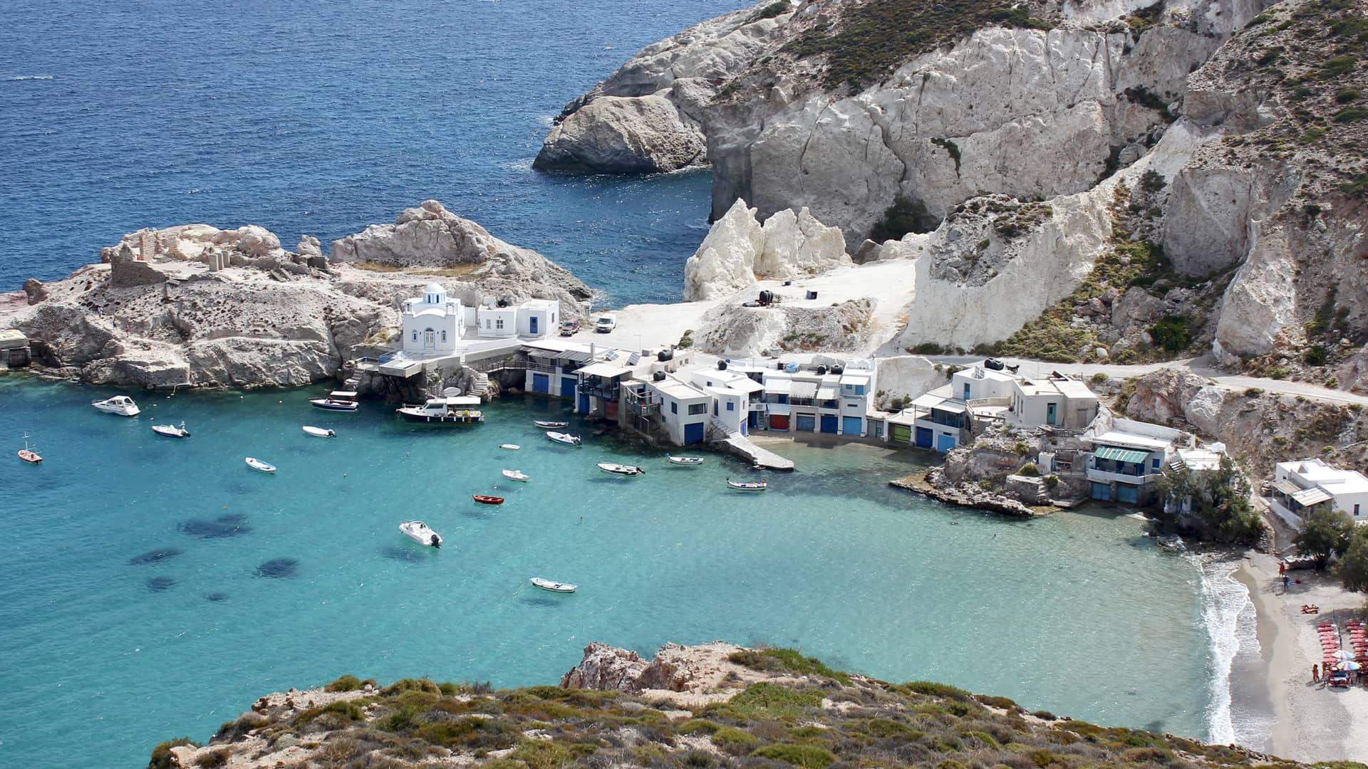 Fish village in Milos