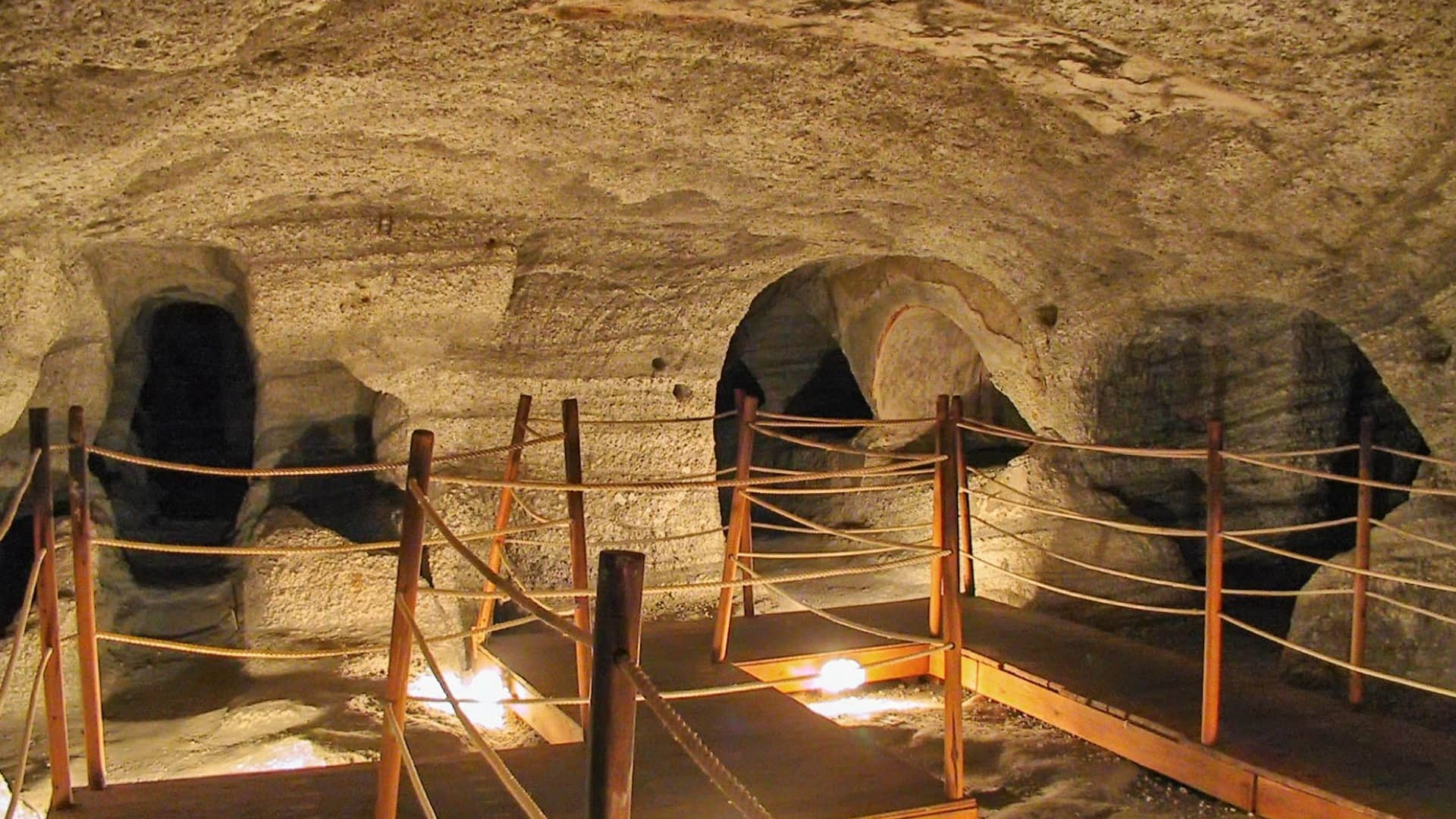 The old Christian catacombs in Milos